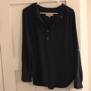 Navy Loft blouse TALL